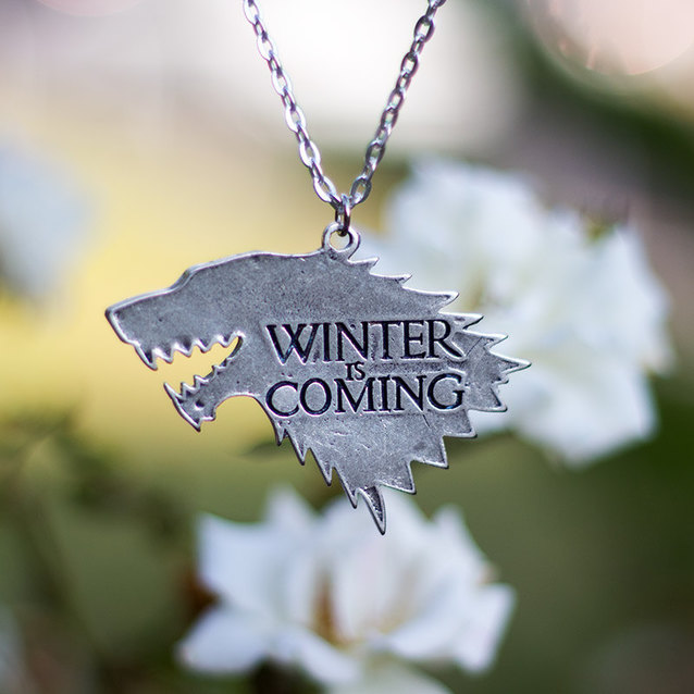 Show img stark wolf necklace game of thrones handmade winter is coming