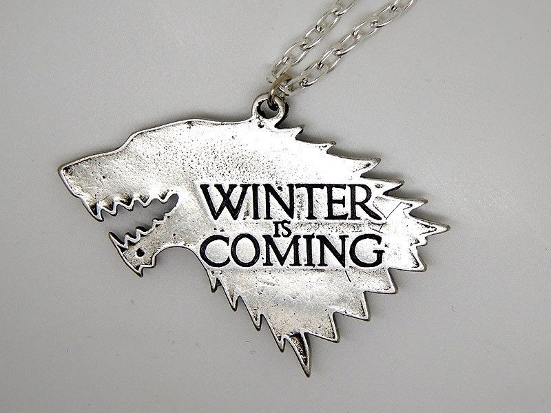 Show img winter is coming stark necklace pendant got