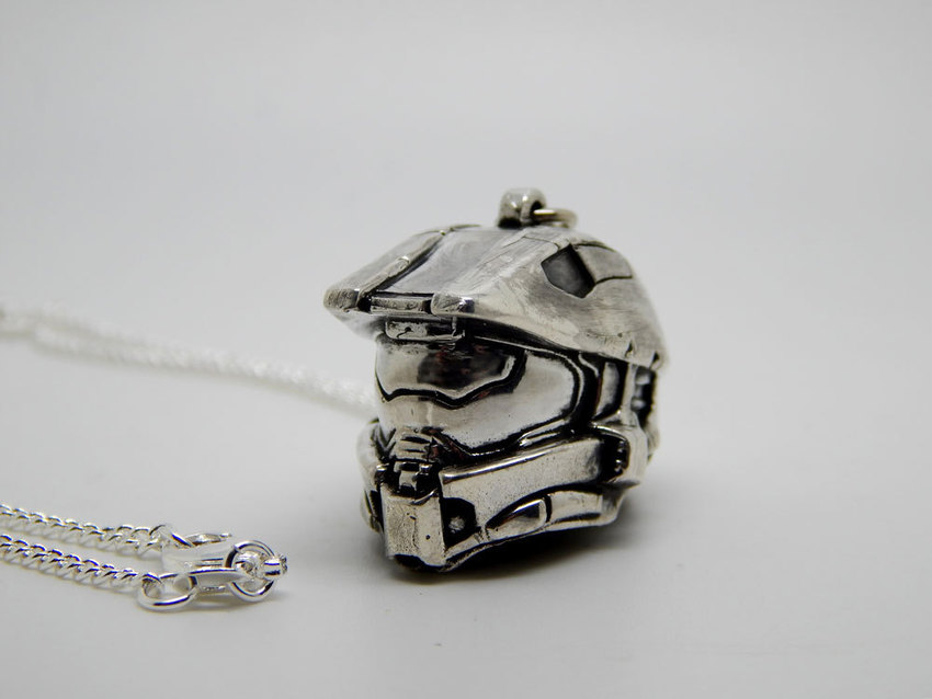 Show img halo helmet necklace silver 925 001