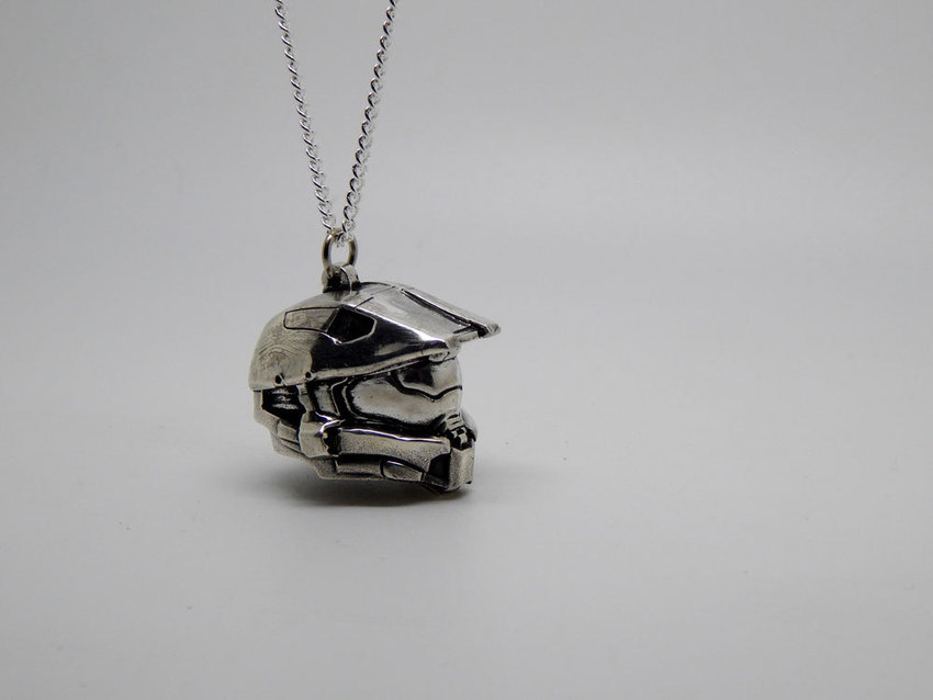 Show img halo helmet necklace silver 925 003