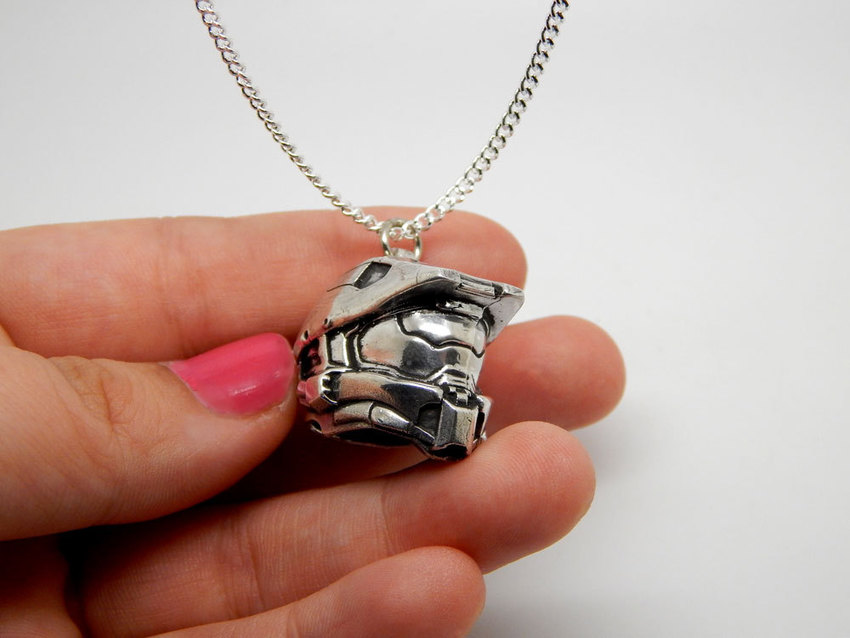 Show img halo helmet necklace silver 925 002