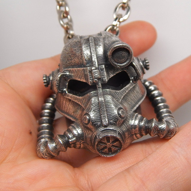 Show img fallout helmet necklace brotherhood of steel game